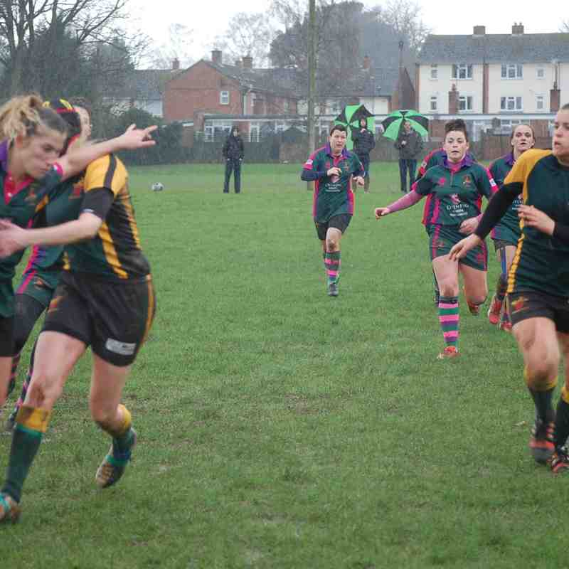 Newent Ladies XV v Drybrook Ladies XV Cup Match 07.02.2016