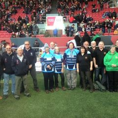 Newent Walking Rugby Team at Bristol v Exeter Match