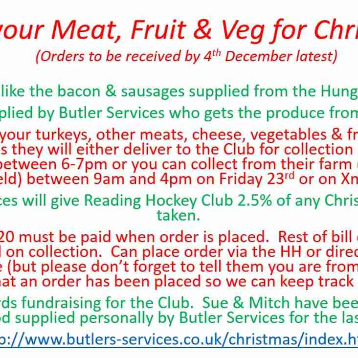 Meat and Veg orders for Christmas