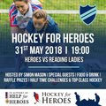 Hockey 4 Hero's coming to Reading 31st May