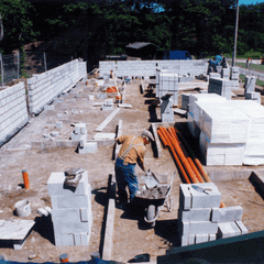 Banff RFC Club House being built (circa 1995)