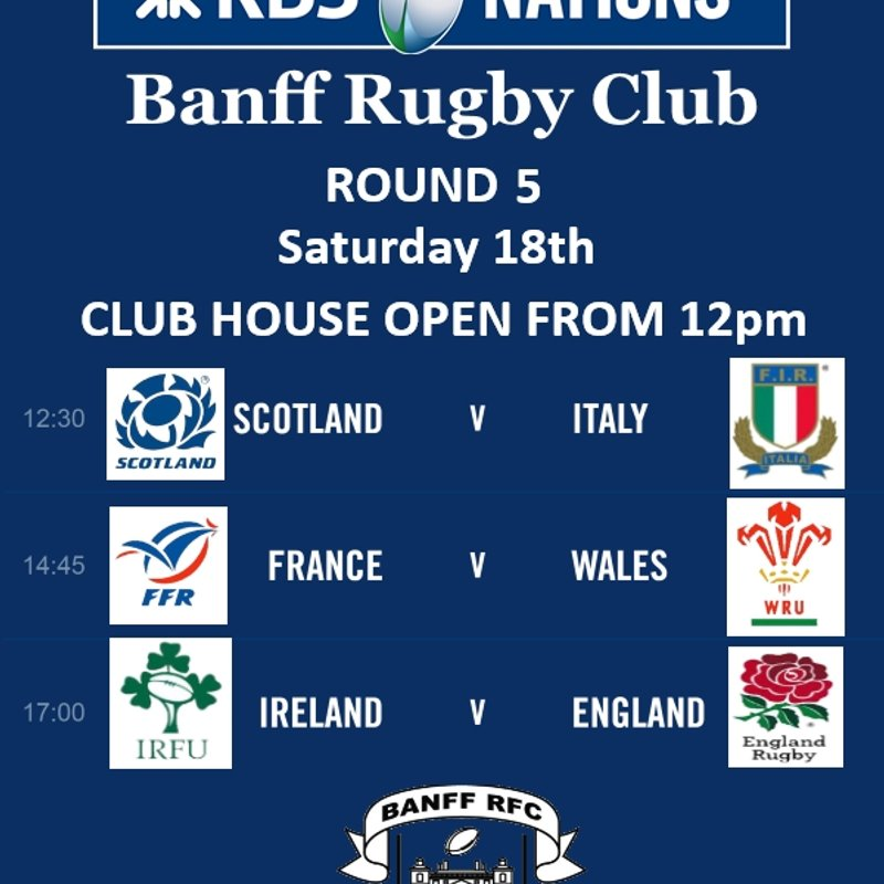 Club house open this Saturday for 6 Nations