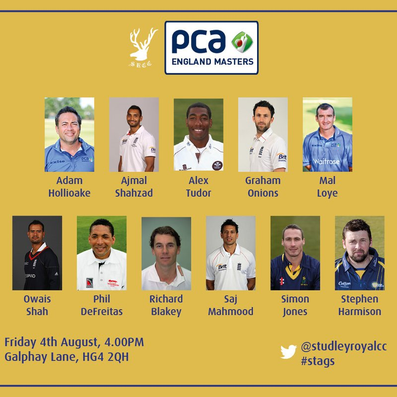 PCA England Masters team confirmed!