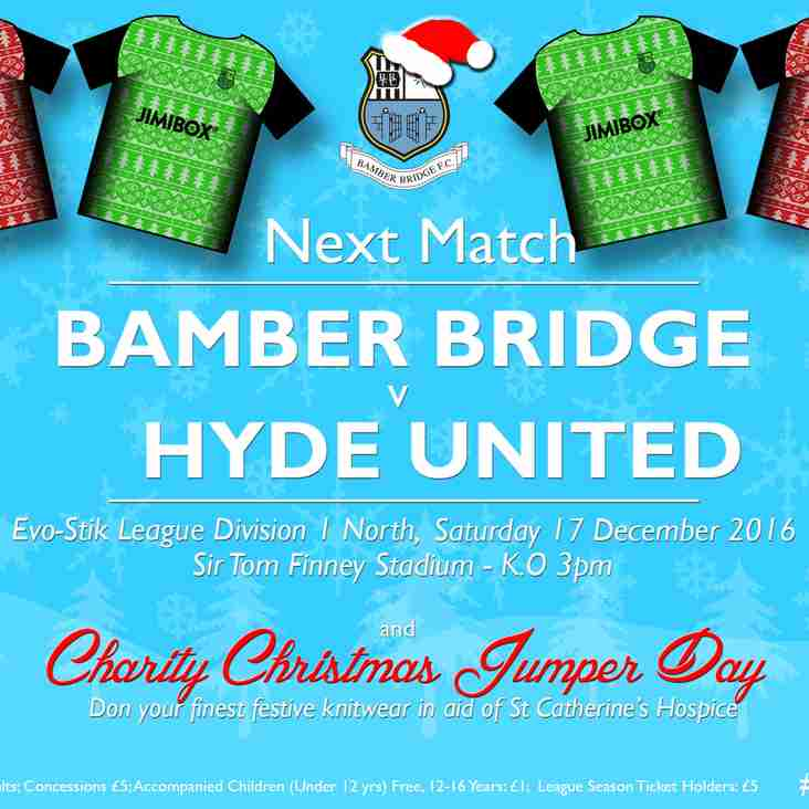 Christmas Jumper Day 2016  - Saturday 17 December (Bamber Bridge v Hyde United)