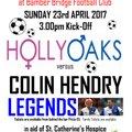 Hollyoaks v Colin Hendry Legends (Charity Match)