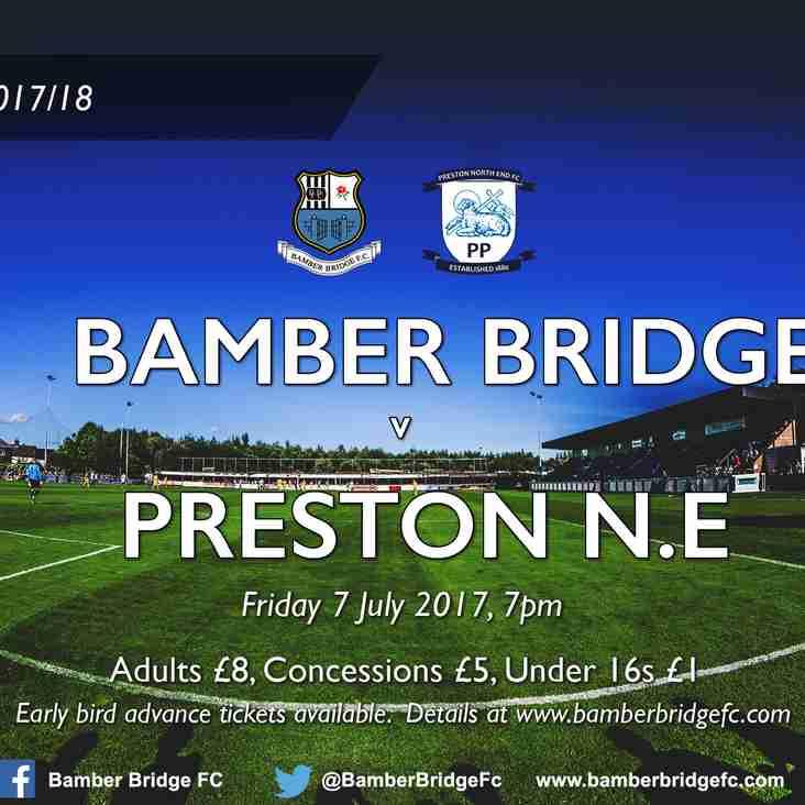 Bamber Bridge v Preston North End (7 July 2017) - Ticket Details