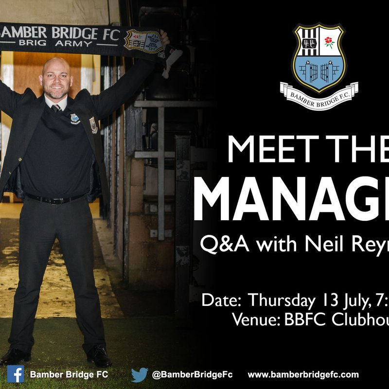 Meet The Manager - Q&A With Neil Reynolds