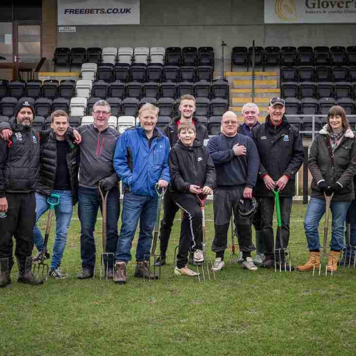 Volunteers 'Pitch In' to ensure games go ahead.