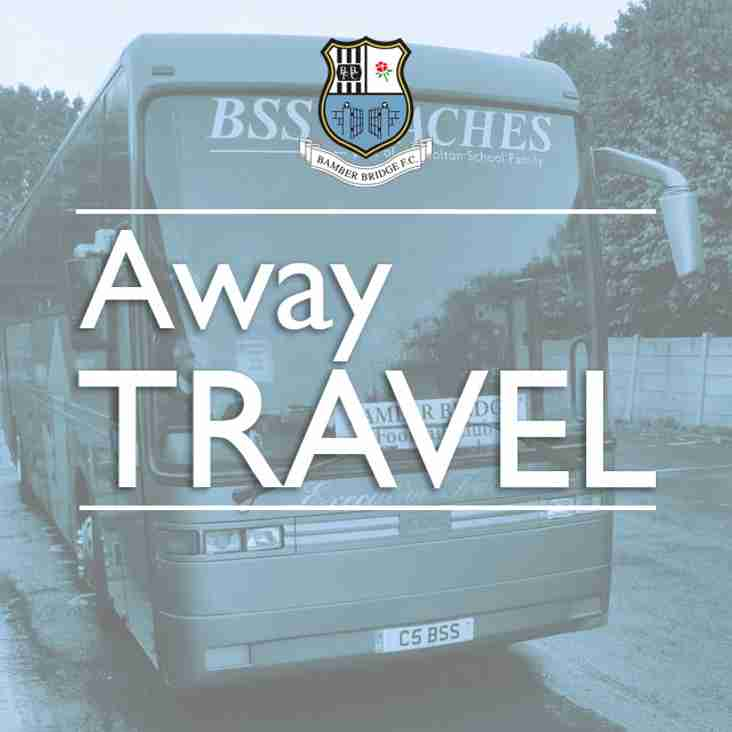 Away Match Travel: Scarborough Athletic (10 March 2018)