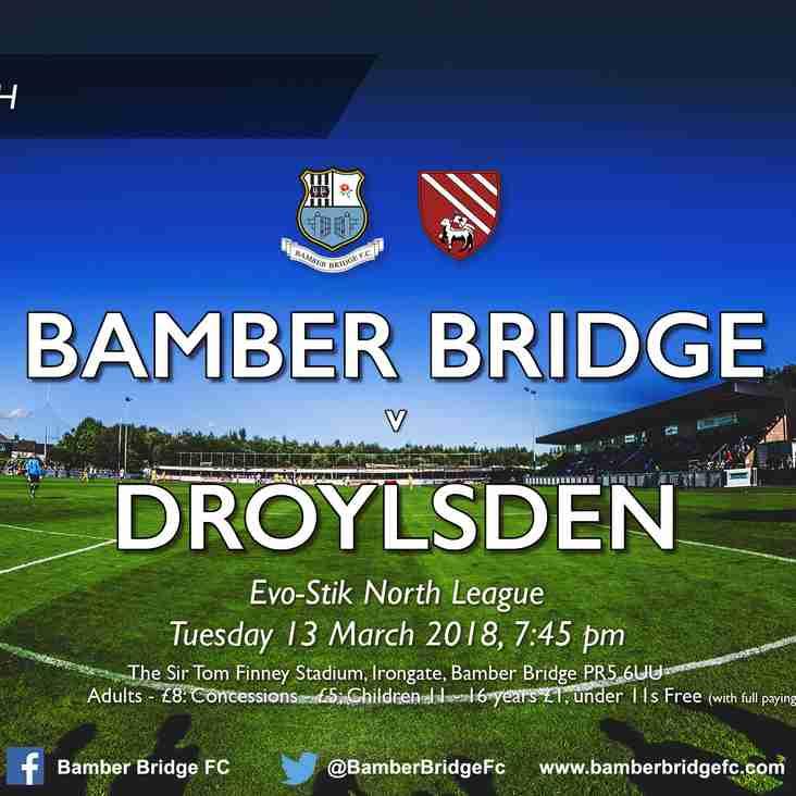 UPDATED: Bamber Bridge v Droylsden (13/03/2018)