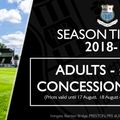 Season Tickets and  Match Day Admission Prices 2018/19