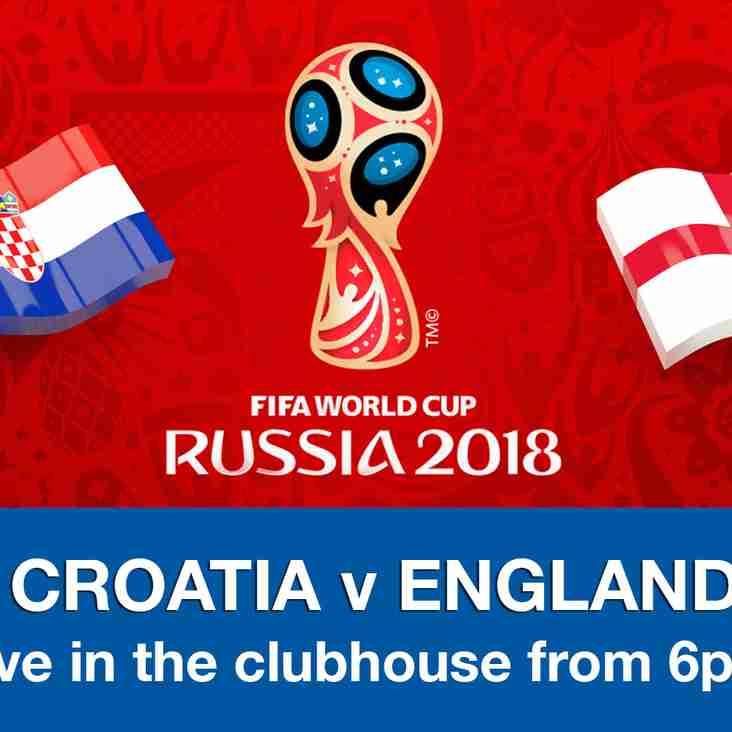 FIFA World Cup Semi Final 2018 - Croatia v England (11 July 2018)