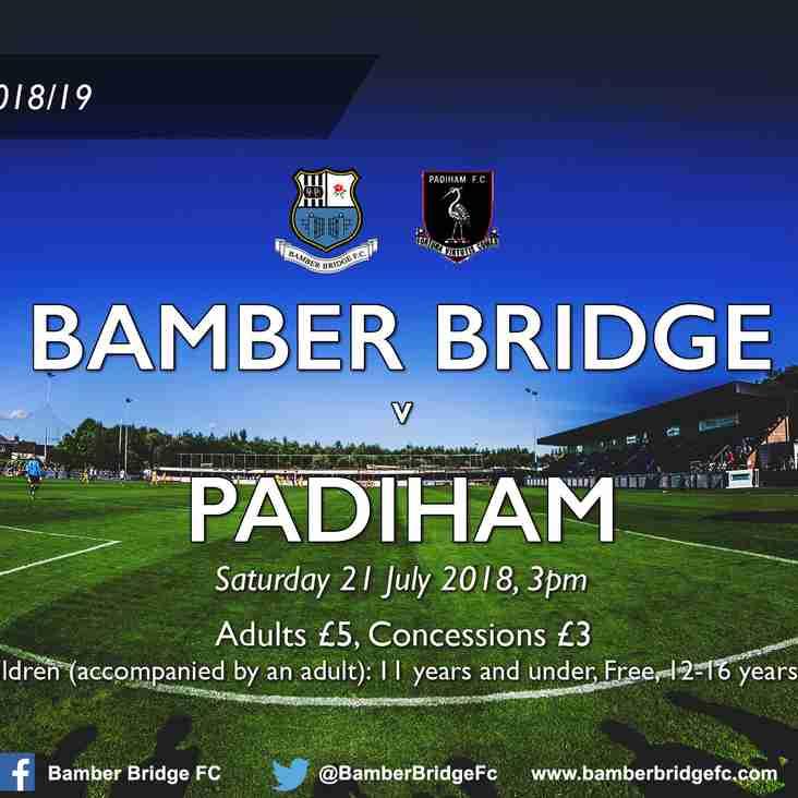 Bamber Bridge v Padiham (21 July 2018)