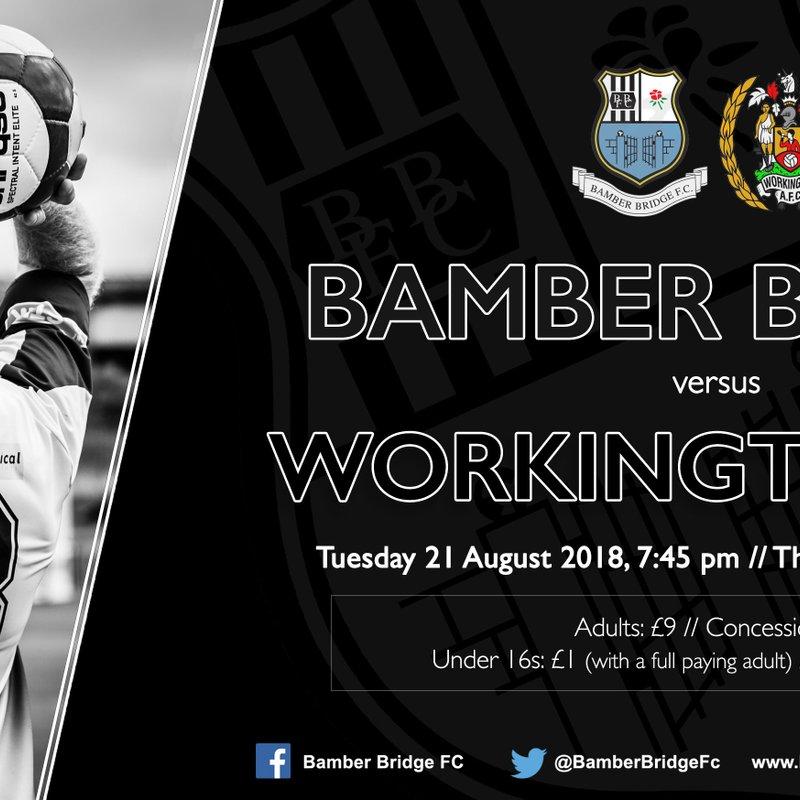 Bamber Bridge v Workington AFC (Tuesday 21 August)