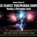 FREE Family Fireworks Display - 4 November 2018