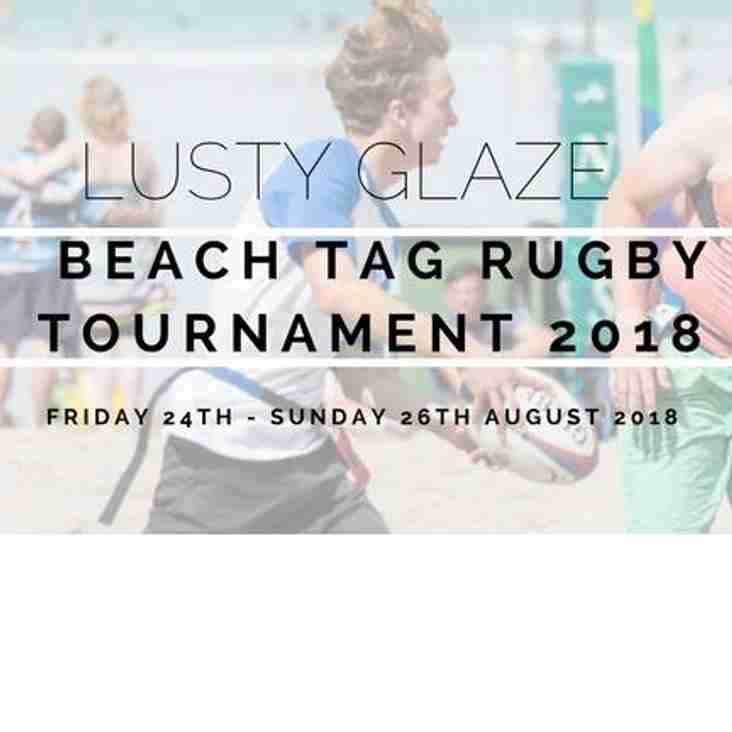 The Lusty Glaze Beach tag rugby tournament is back for 2018