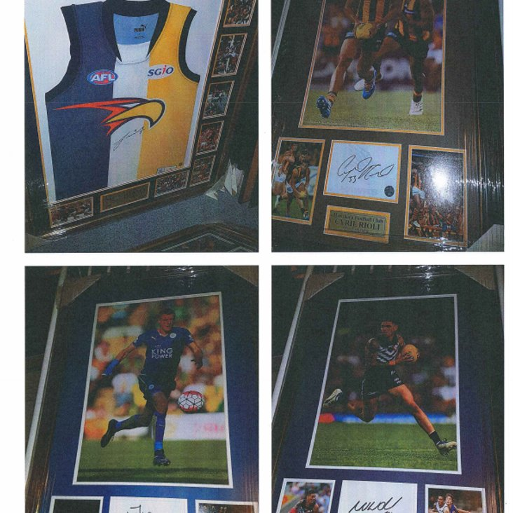 Items For Auction At Guys Fundaiser<