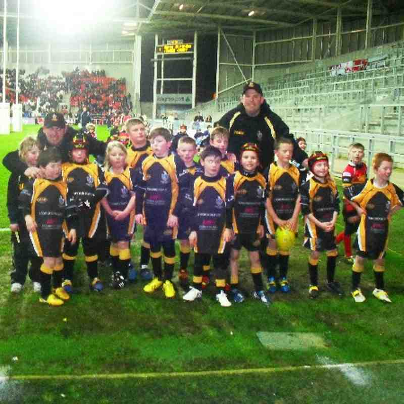 Under 8's at Saints