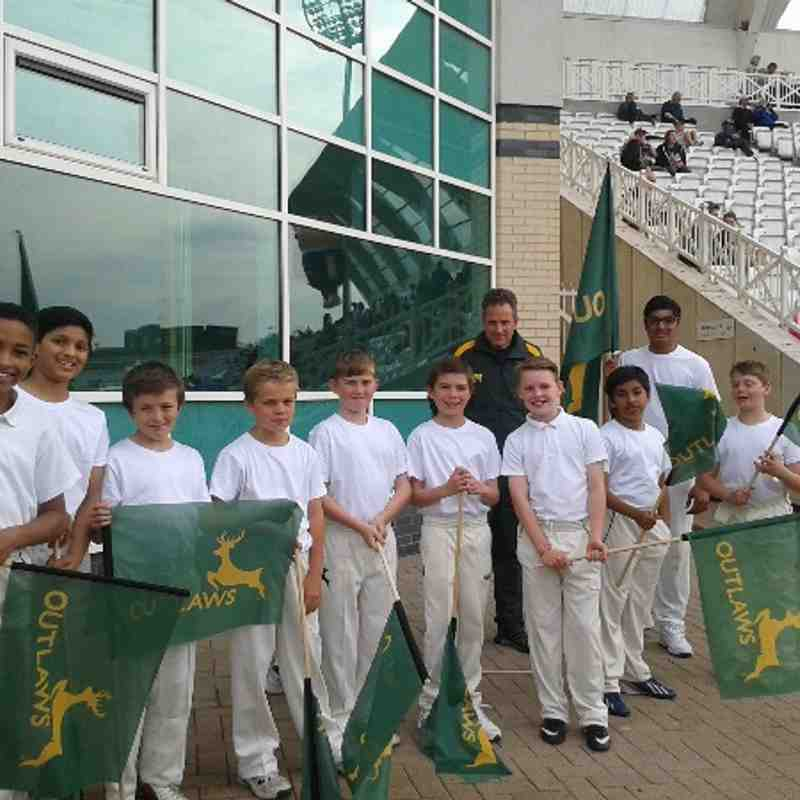 U11s at Notts vs Lancs T20 Blast
