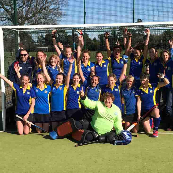 Ladies 1s are unbeaten champions!