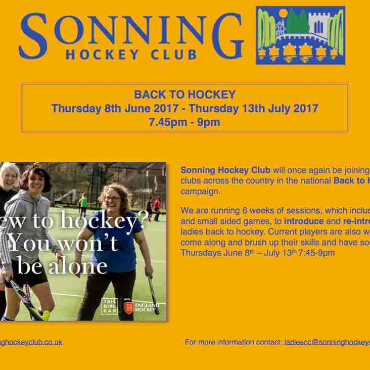 Back to Hockey at Sonning 2017