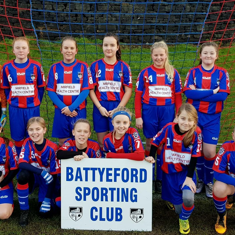 Under 13 Belles beat Skipton Juniors - Shield Rd1 1 - 4