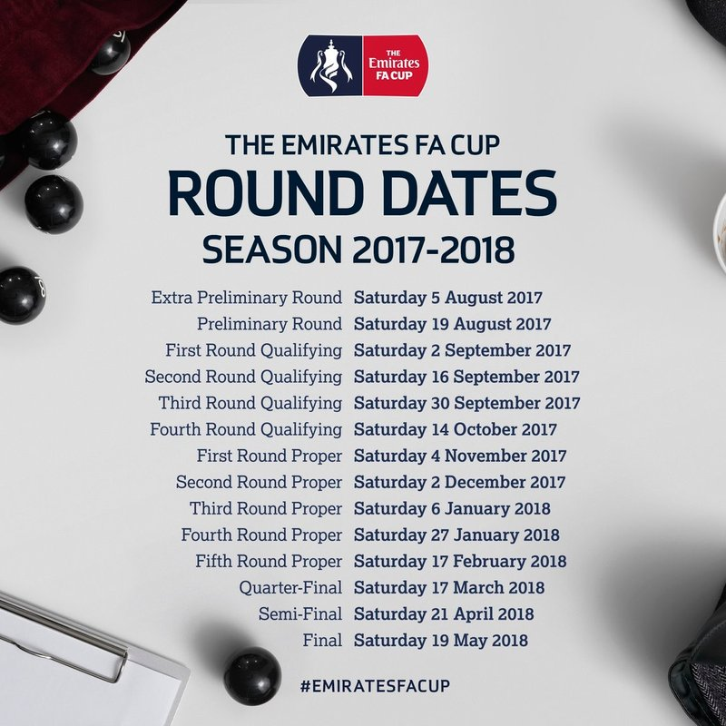 Emirates FA Cup Dates Released