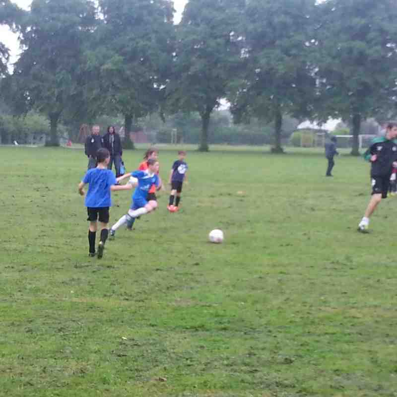 Blues v's Reds In the Rain! (Under 8/9 2013/14)