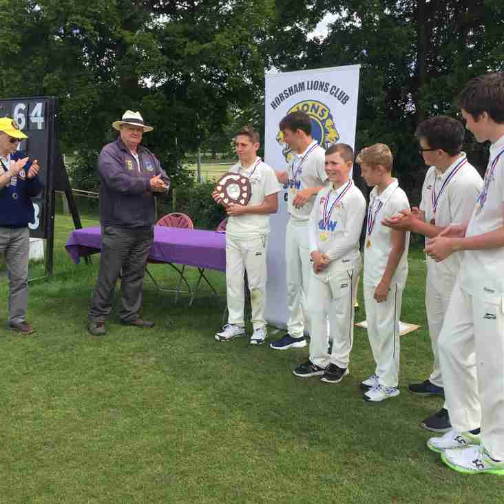 Boys Under 14's Win Silverware at Horsham Lions 6-a-side
