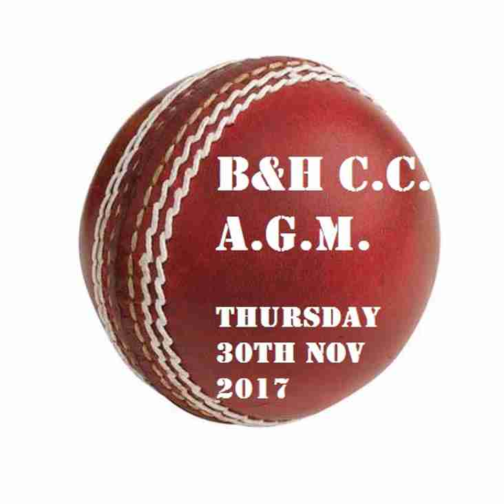 AGM Notification & other club news