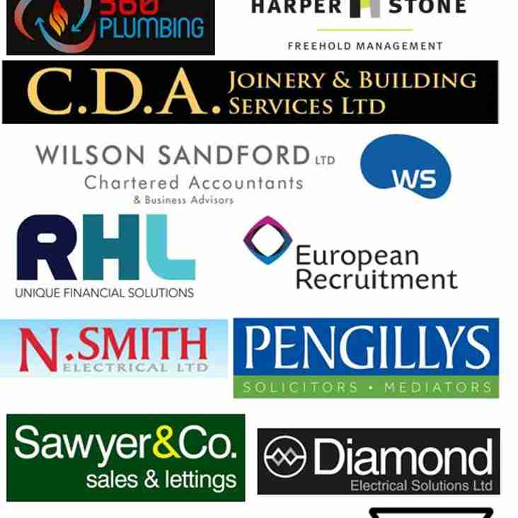 Huge thanks to all our fantastic Sponsors this year. Can all members do their best to support them, as they have us.