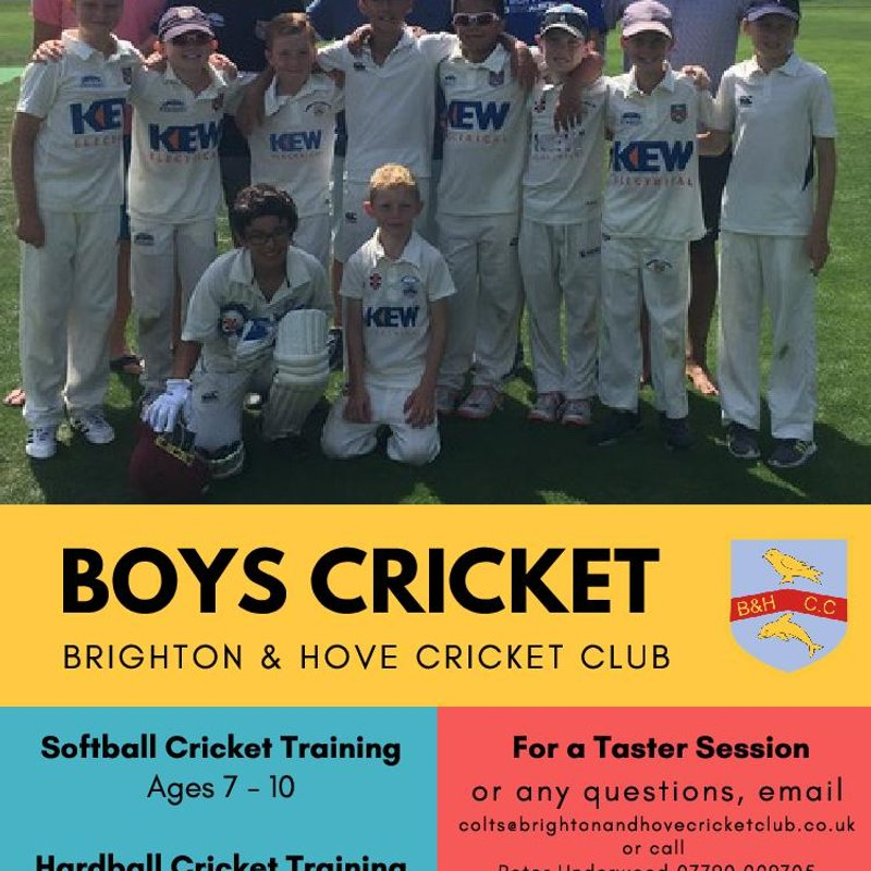 Boys Cricket 2019 - Places still available - Under 14's wanted particularly