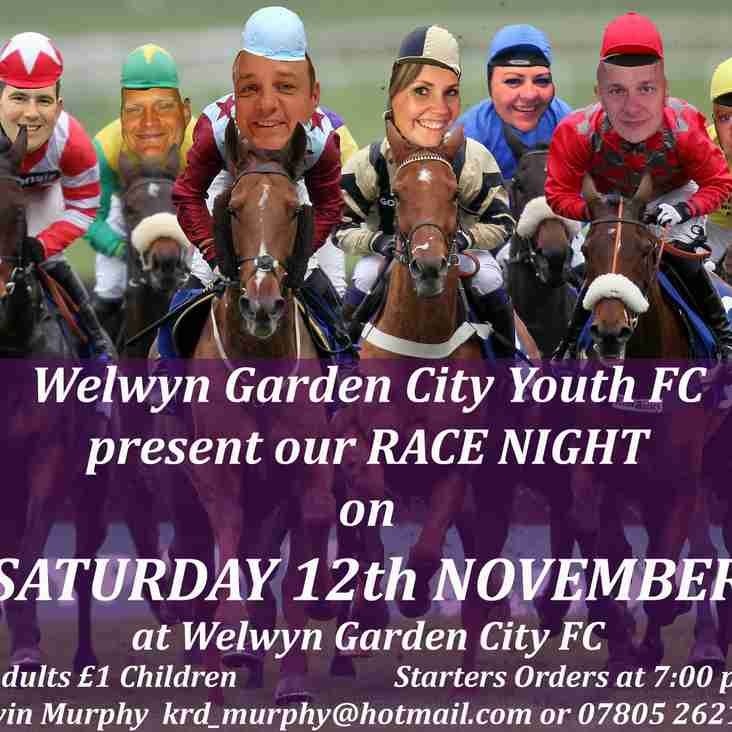Come and join us at our November Race Night