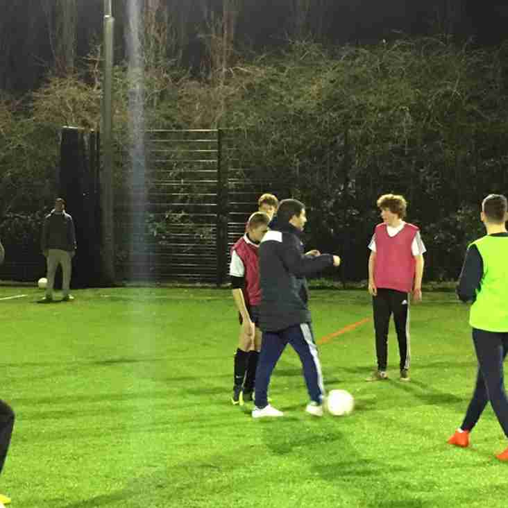 Welwyn Garden City FC First Team Manager Adam Fisher Takes Training session for our U18s