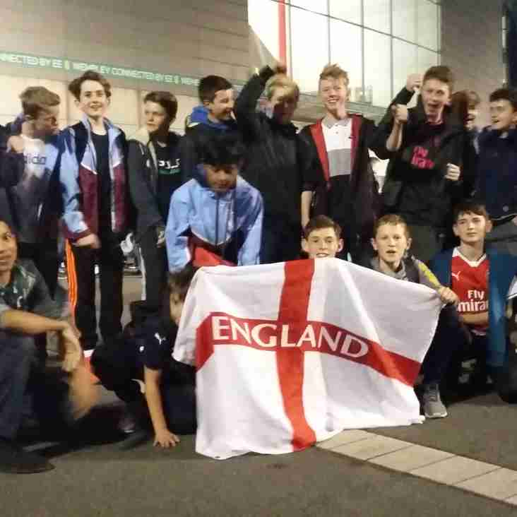 Our Under 14s Watch England qualify for the World Cup Finals