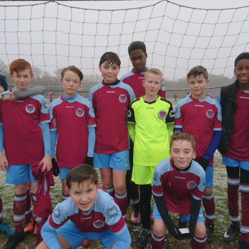 U13 Typhoons beat Cuffley Cobras U13 0 - 4