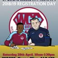 Registration for Welwyn Garden City Youth FC 2018/19 on Saturday 28th April