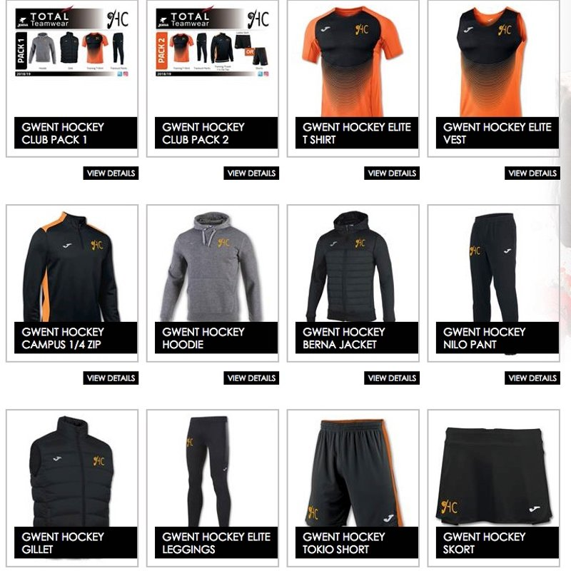 GH New Training And Leisure Wear Range