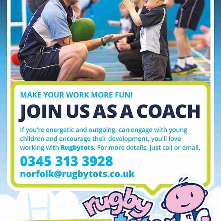 Fancying joining the Rugby Tots Team?