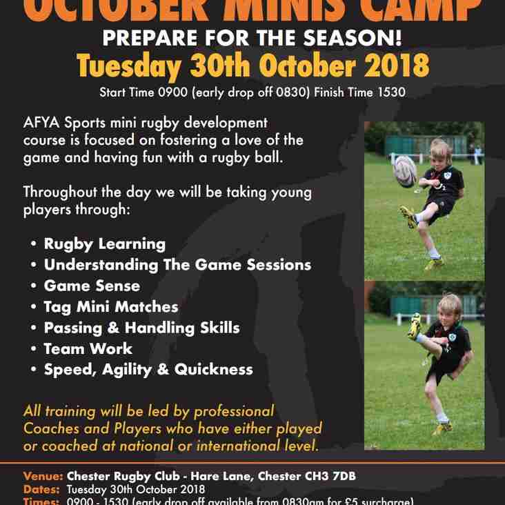 October Minis Rugby Camp