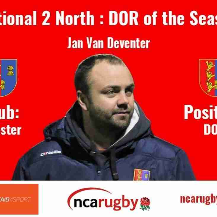 National 2 North DOR of the Year