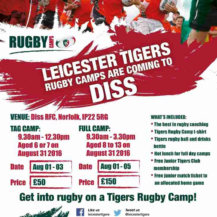 Leicester Tigers Summer Camp