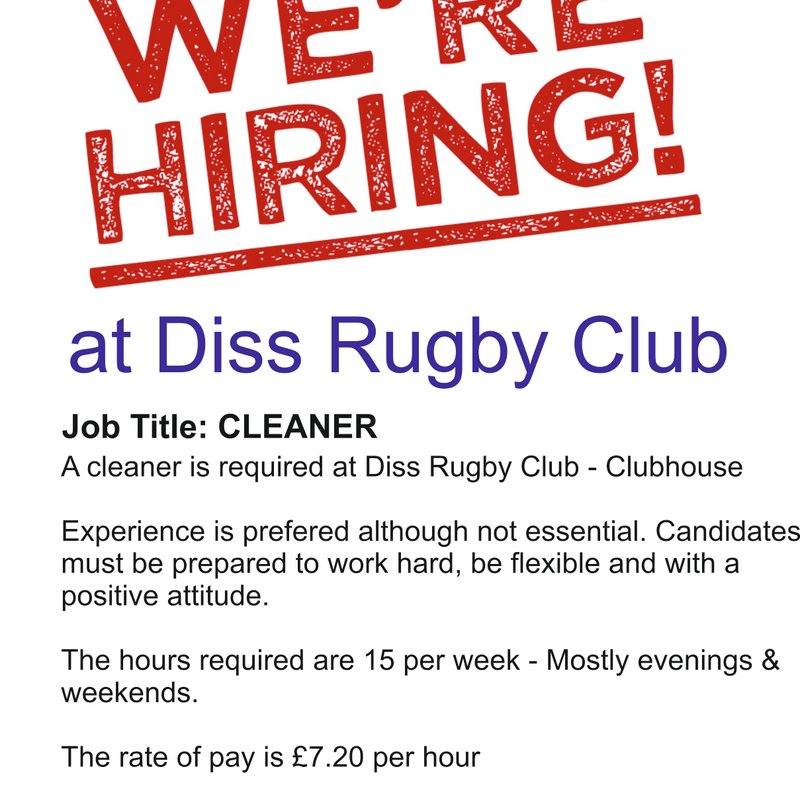 Cleaner Wanted!