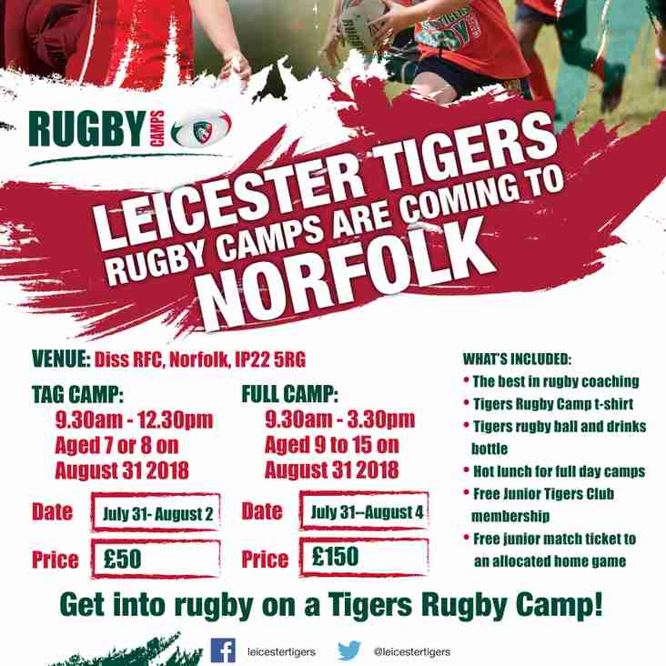 Leicester Tigers Camp 2017