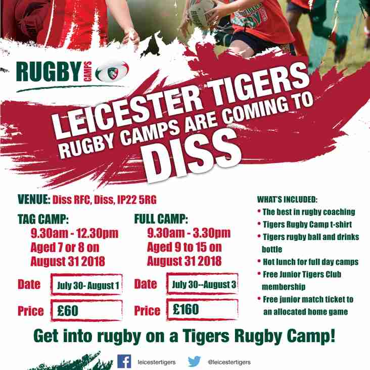 Leicester Tigers Camp