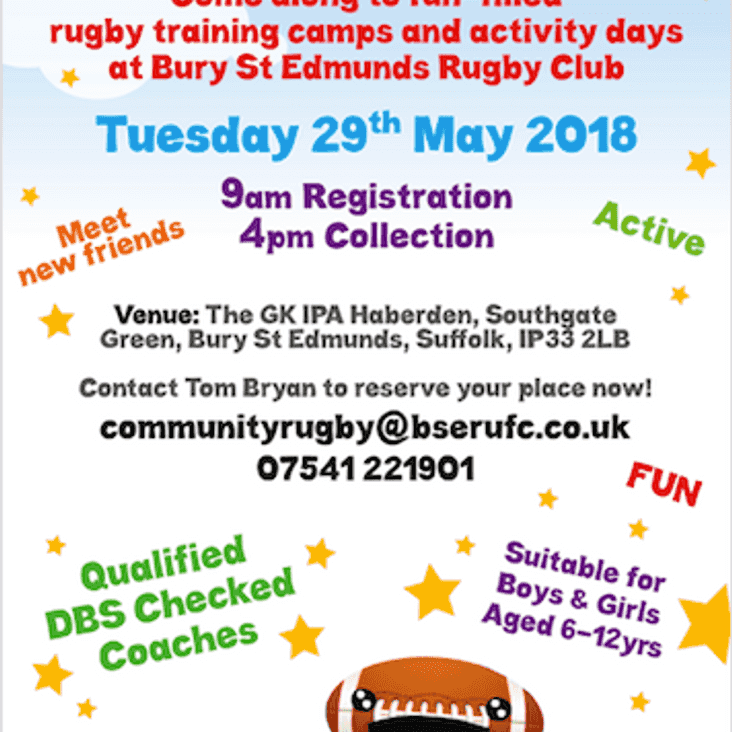 May 29th Half Term Activity Camp