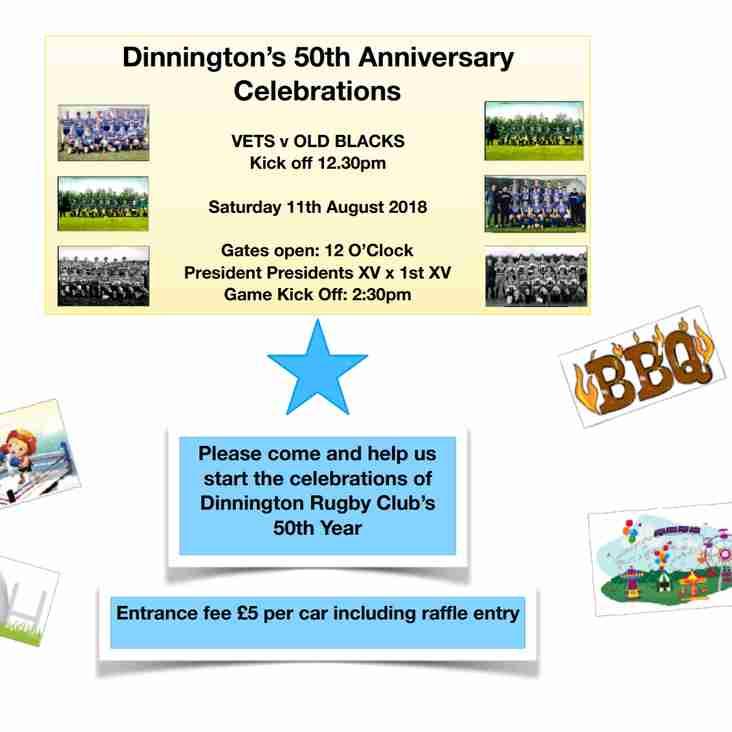 50th Anniversary celebrations start 11th August