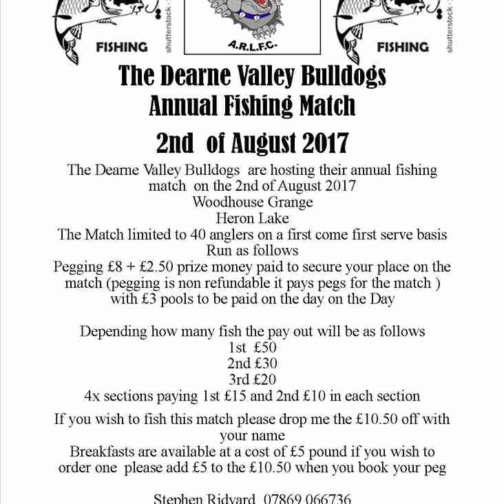 Dearne Valley Bulldogs Annual Fishing Match