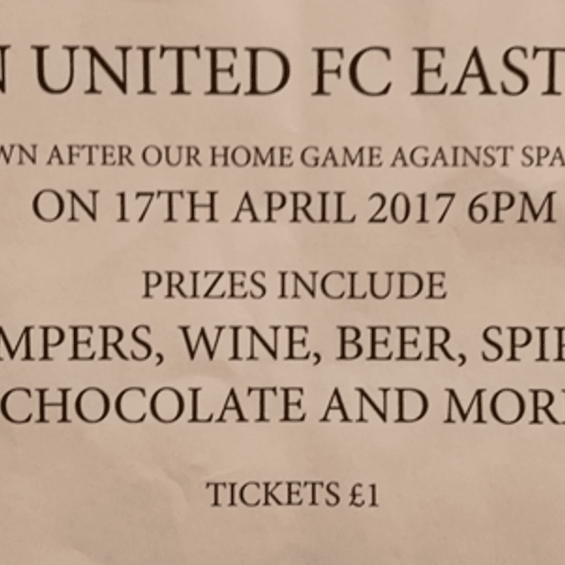 LINCOLN UNITED FC EASTER DRAW
