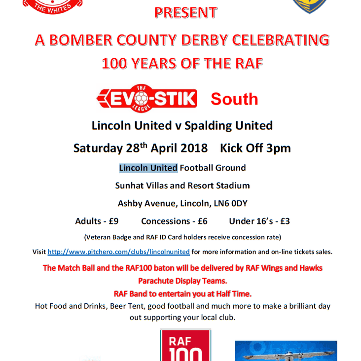 RAF100 Celebration Details and Match Tickets